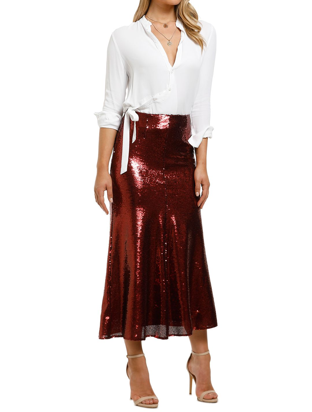 Keepsake-the-Label-Farewell Skirt-Ruby-Side