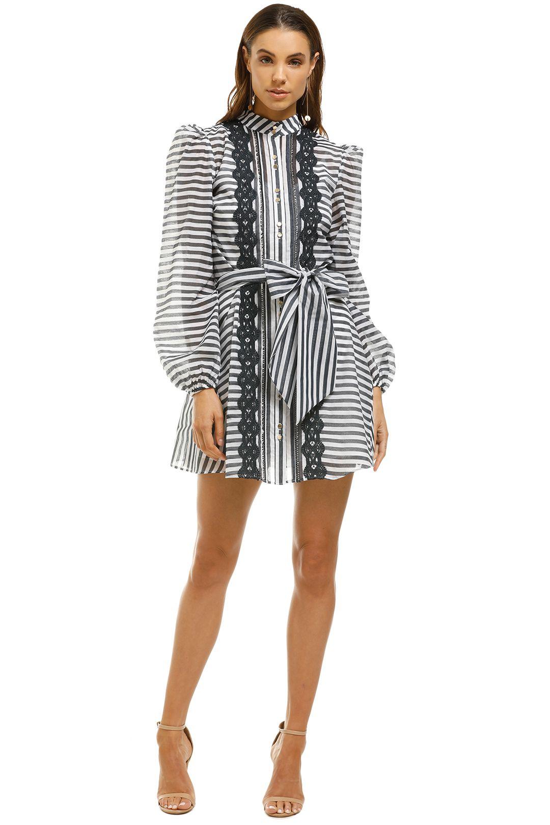 Keepsake-The-Label-Guardian-LS-Mini-Dress-Navy-Stripe-Front