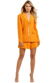 Keepsake-the-Label-Magic-Touch-Blazer-and-Short-Set-Orange-Front