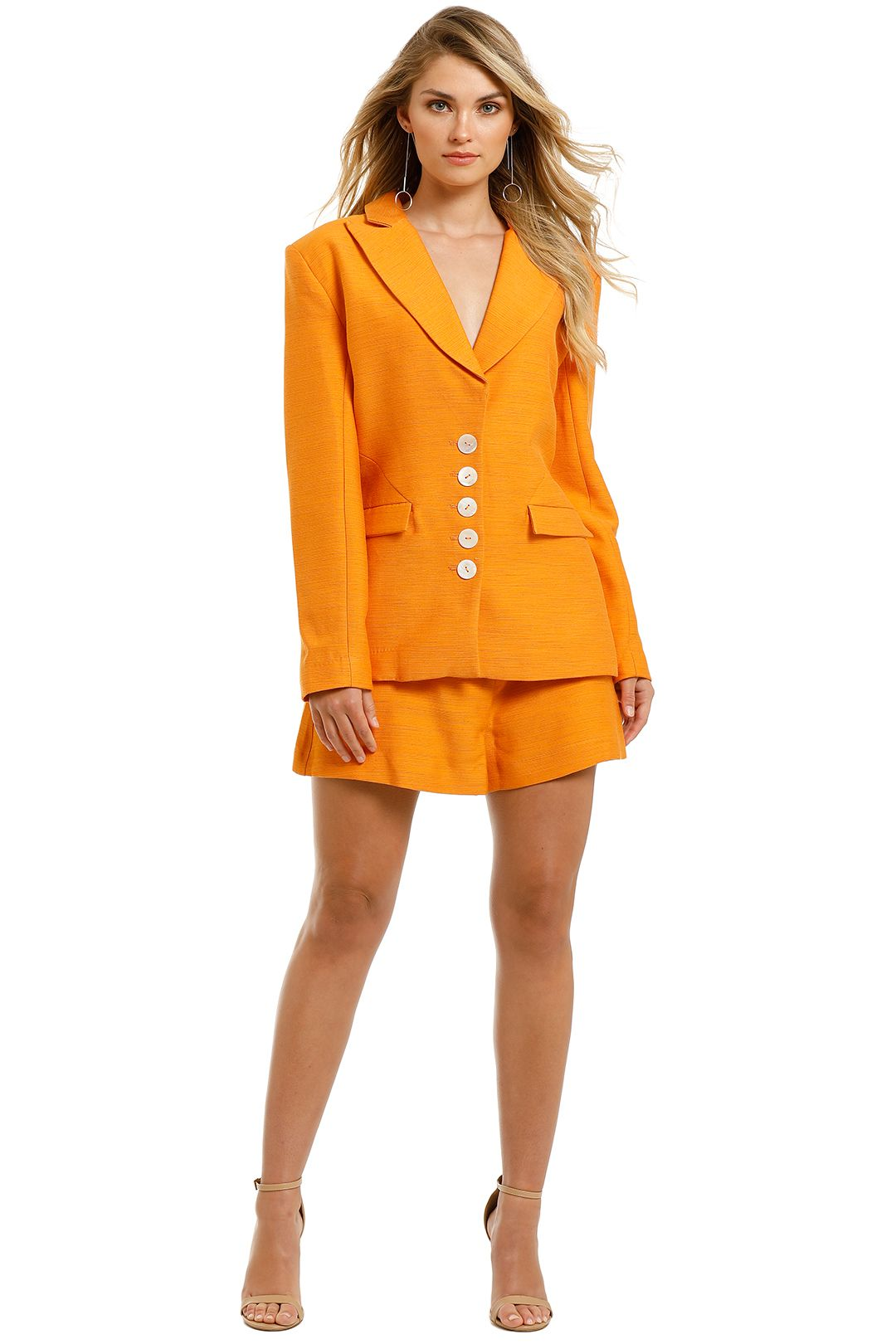 Keepsake-the-Label-Magic-Touch-Blazer-and-Short-Set-Orange-Front
