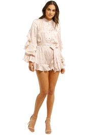 Keepsake-the-Label-Pearl-LS-Playsuit-Nude-Snake-Skin-Front