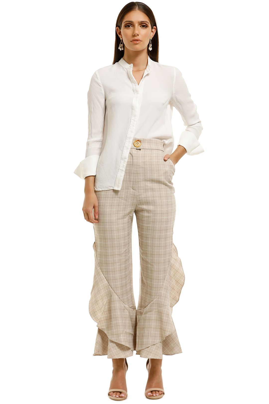 Keepsake-the-Label-Unison-Pant-Toffee-Check-Front