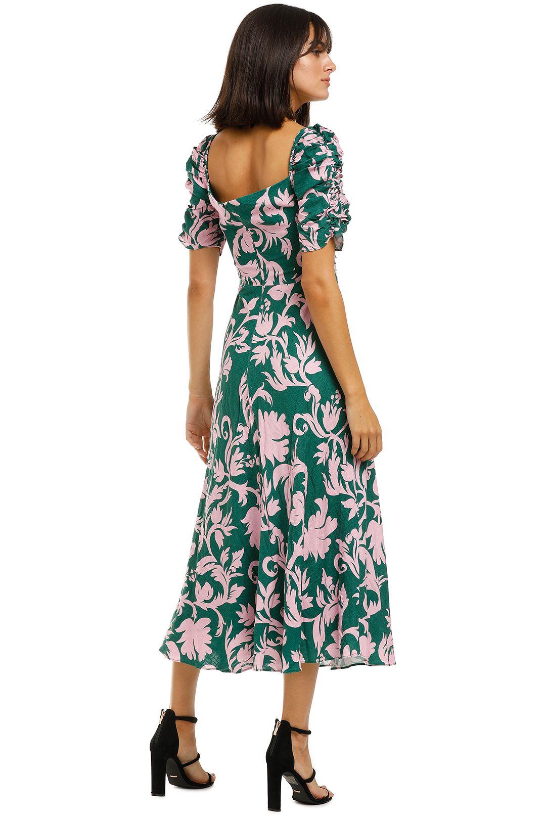 Keepsake-the-Label-Wistful-Midi-Dress-Jade-Baroque-Back