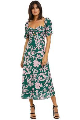 Keepsake-the-Label-Wistful-Midi-Dress-Jade-Baroque-Front