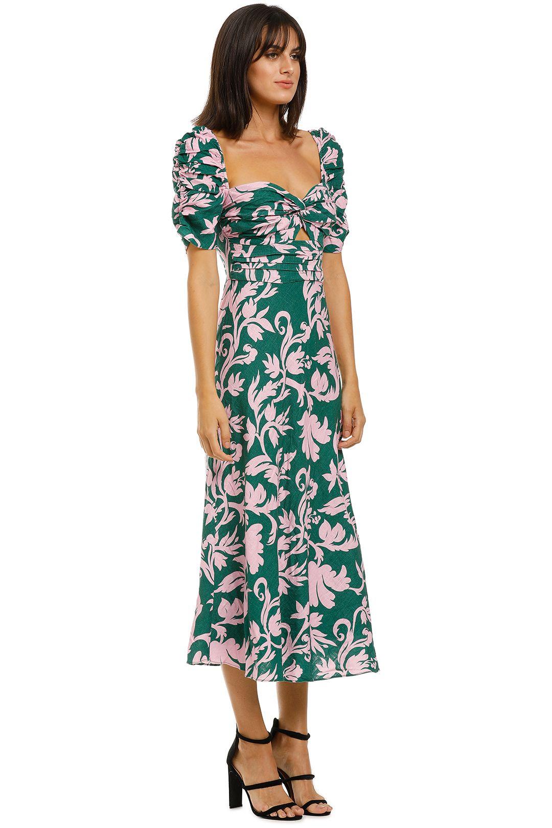 Keepsake-the-Label-Wistful-Midi-Dress-Jade-Baroque-Side