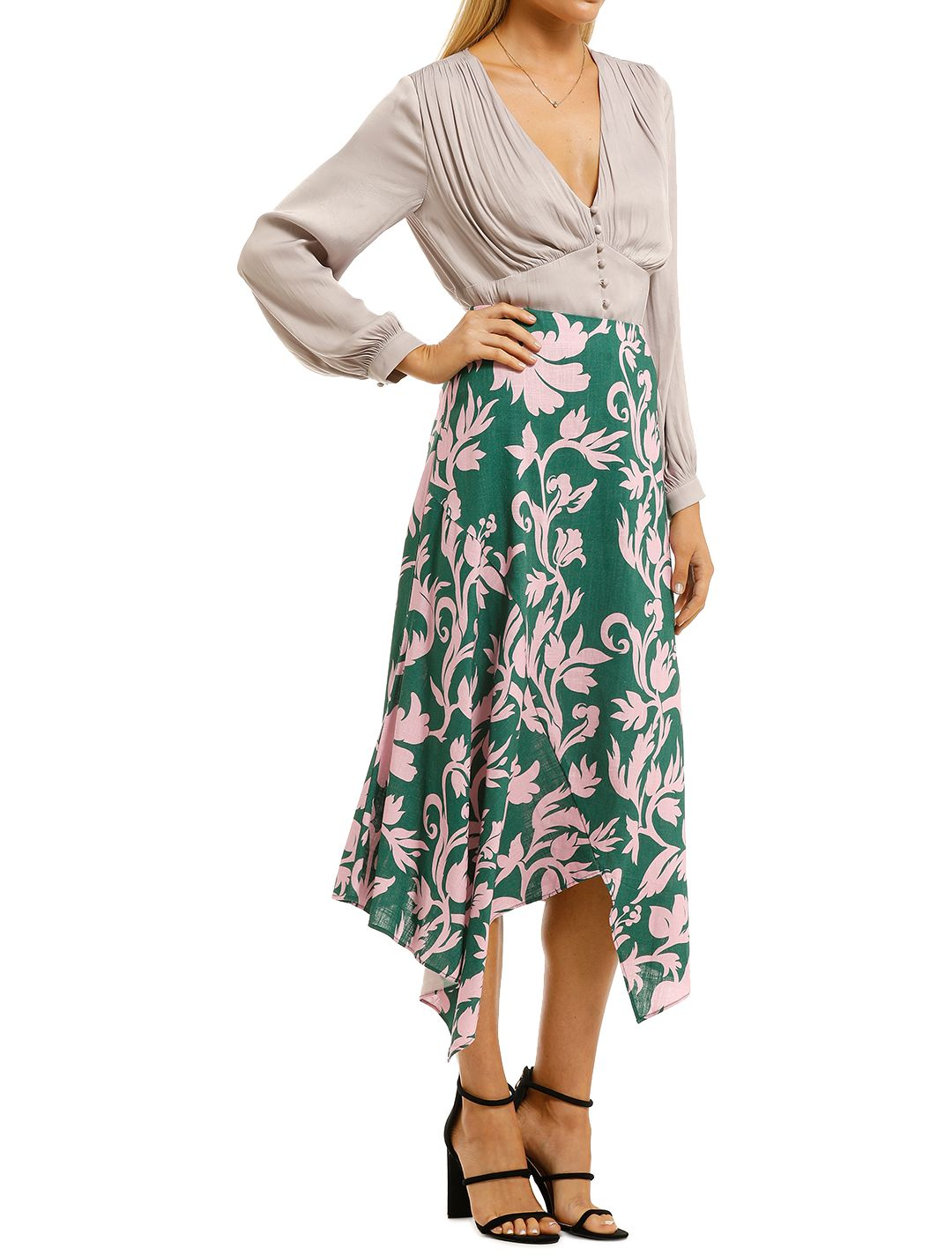 Keepsake-the-Label-Wistful-Skirt-Jade-Baroque-Side
