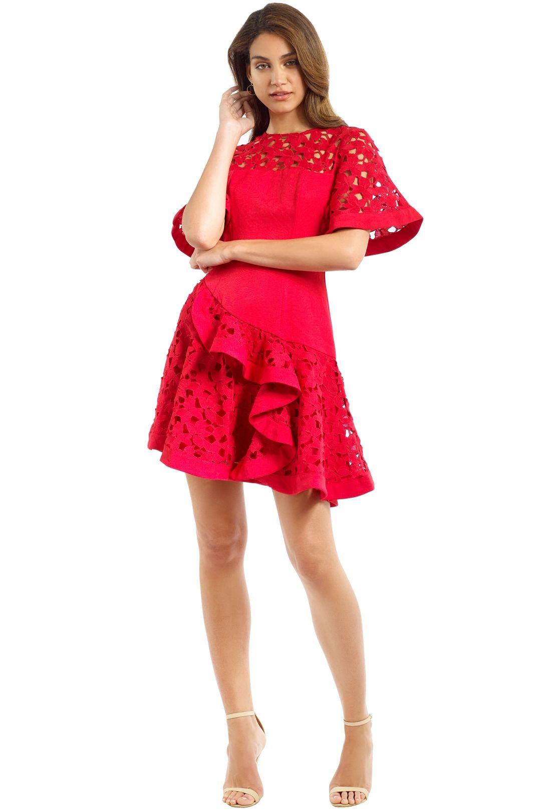 Keepsake - Headlines Mini Dress - Red - Front