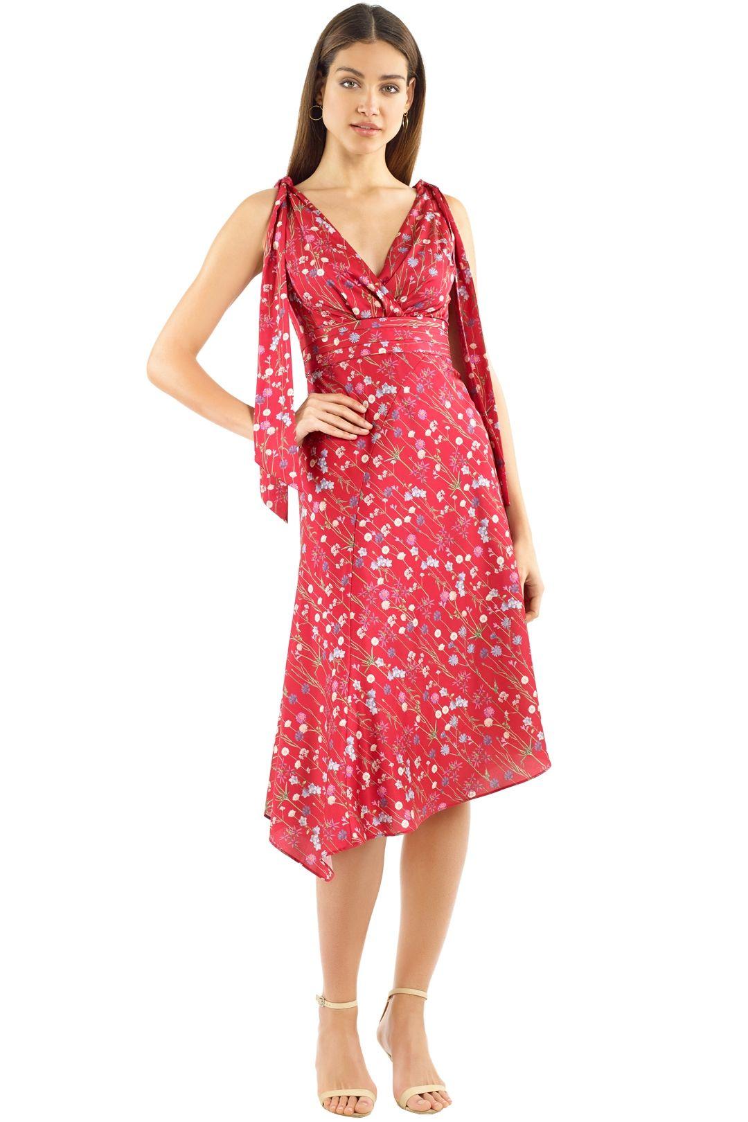 Keepsake the Label - Hold Back Dress - Scarlet Floral - Front