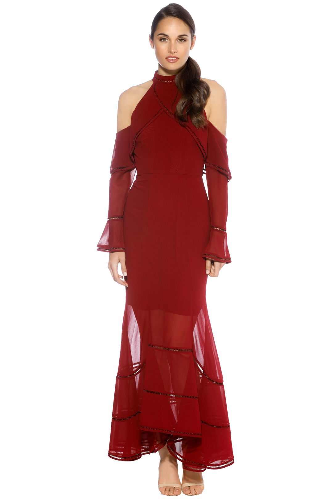 Keepsake the Label - Lovers Holiday Gown - Plum - Front