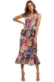 Keepsake Runaway Midi Dress sleeveless