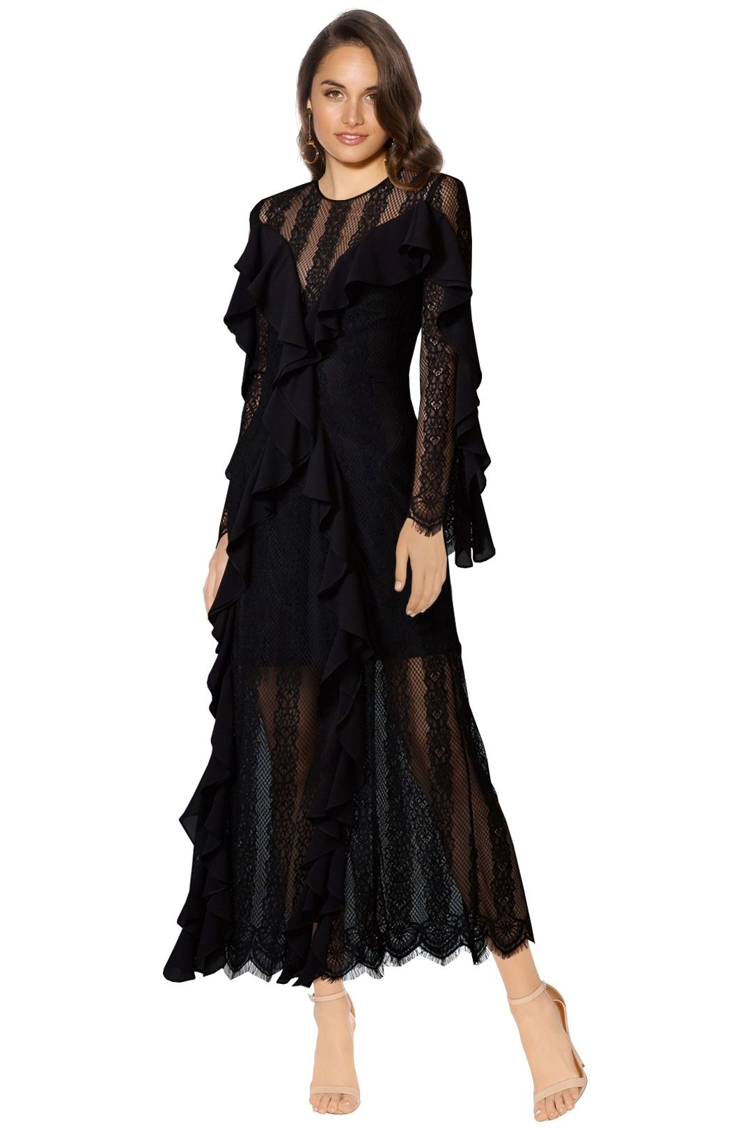 Keepsake The Label - Better Days Lace Gown - Black - Front