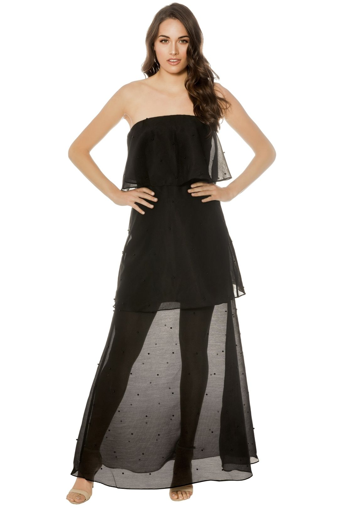 Keepsake The Label - Call Me Gown - Black - Front