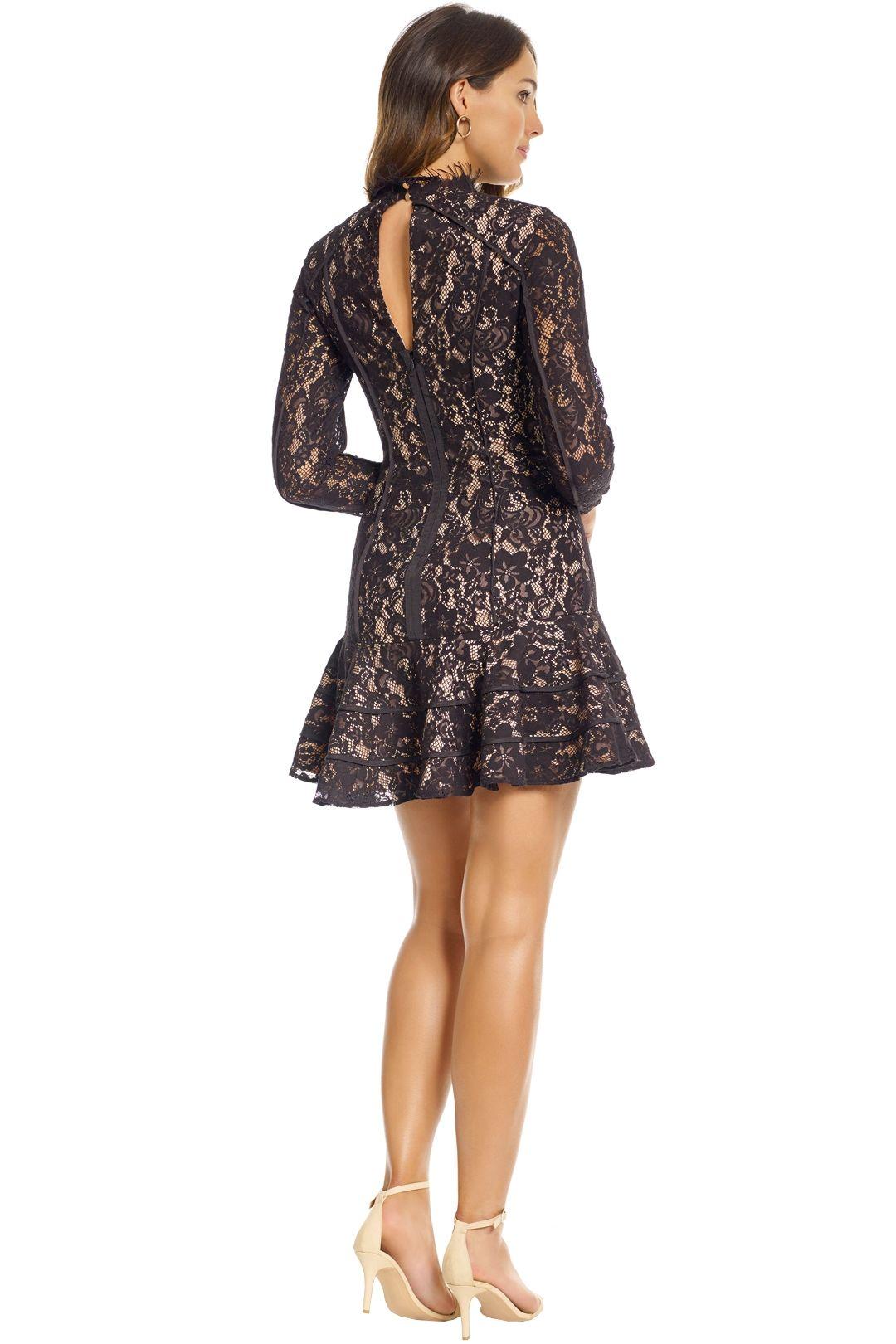 Keepsake the Label - Dreamers LS Lace Mini Dress - Black - Back