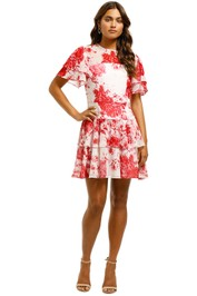Keepsake The Label - Enchanted Mini Dress - Red Floral - Front