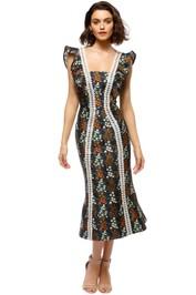 Keepsake The Label - Faithful Midi Dress - Navy Floral - Front