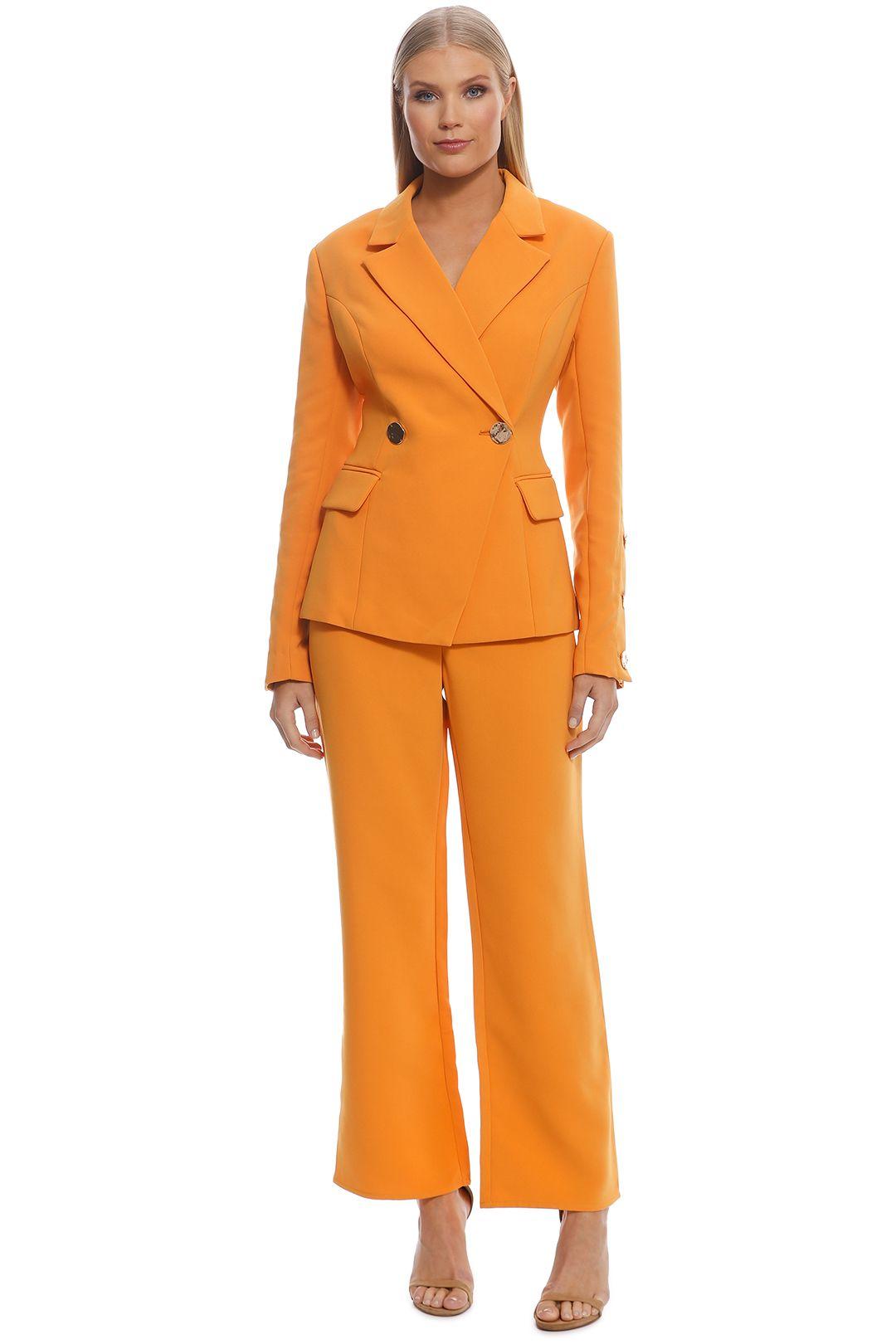 Keepsake The Label - Follower Blazer and Pant Set - Orange - Front