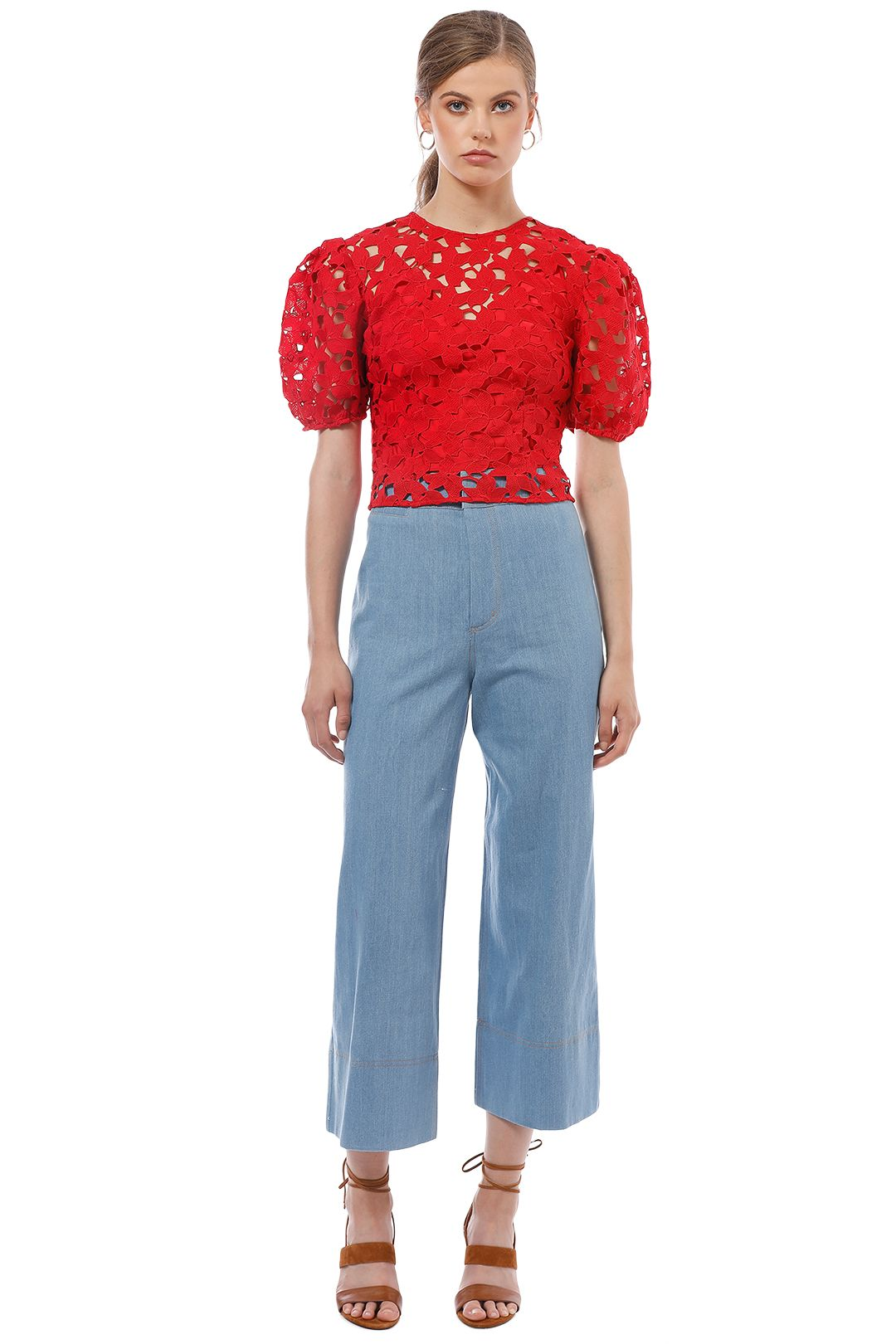 Keepsake the Label - Headlines Lace Top - Red - Front
