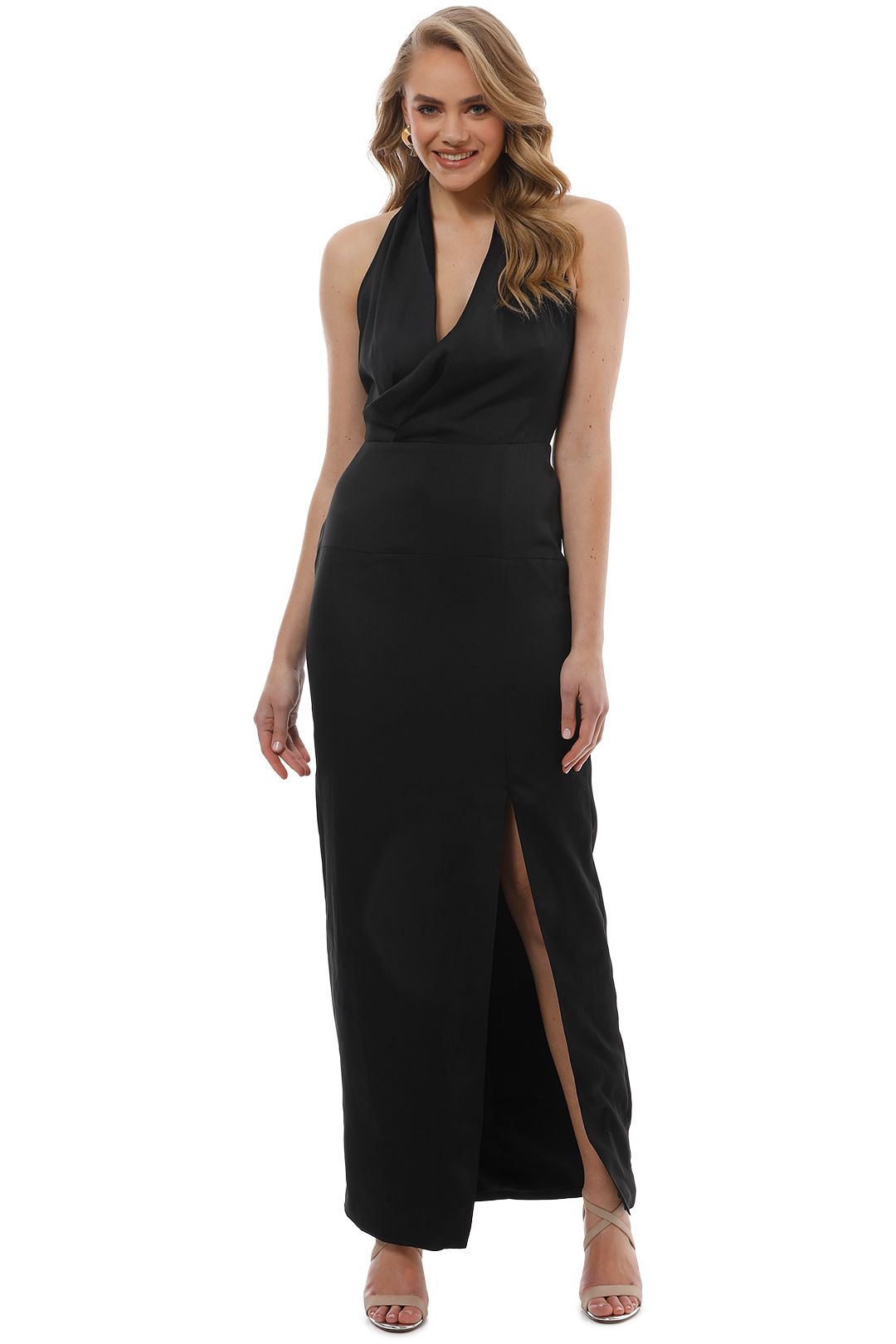 Keepsake the Label - Hold Back Gown - Black - Front