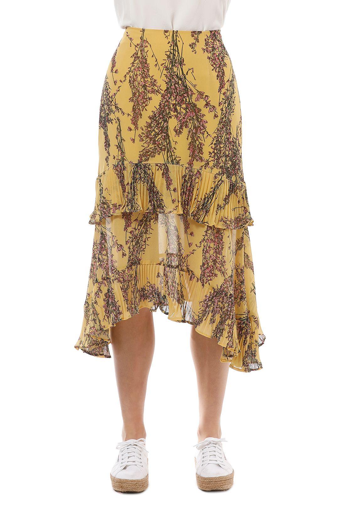 Keepsake the Label - Light Up Skirt - Golden Yellow - Front Crop