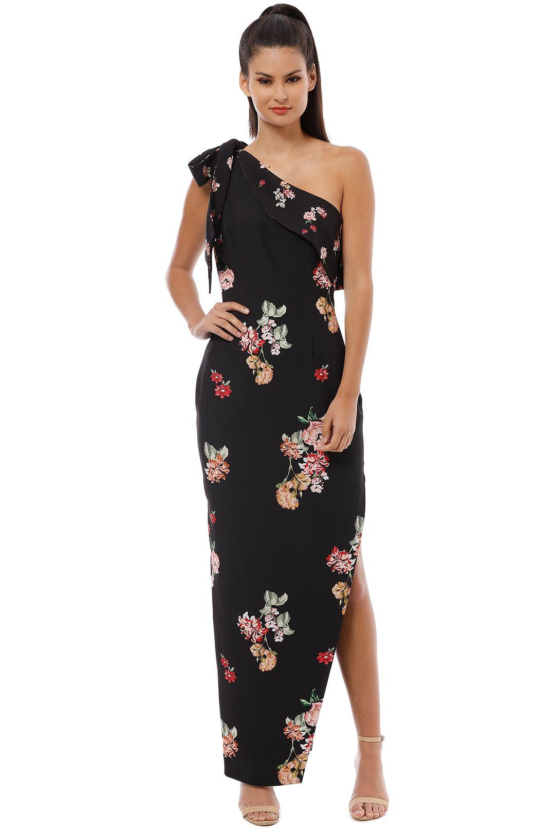 Keepsake the Label - Morning Sky Gown - Black - Front