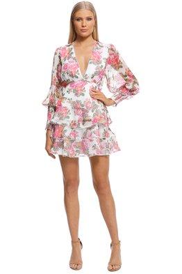 Keepsake - Oblivion LS Mini Dress - Ivory Floral