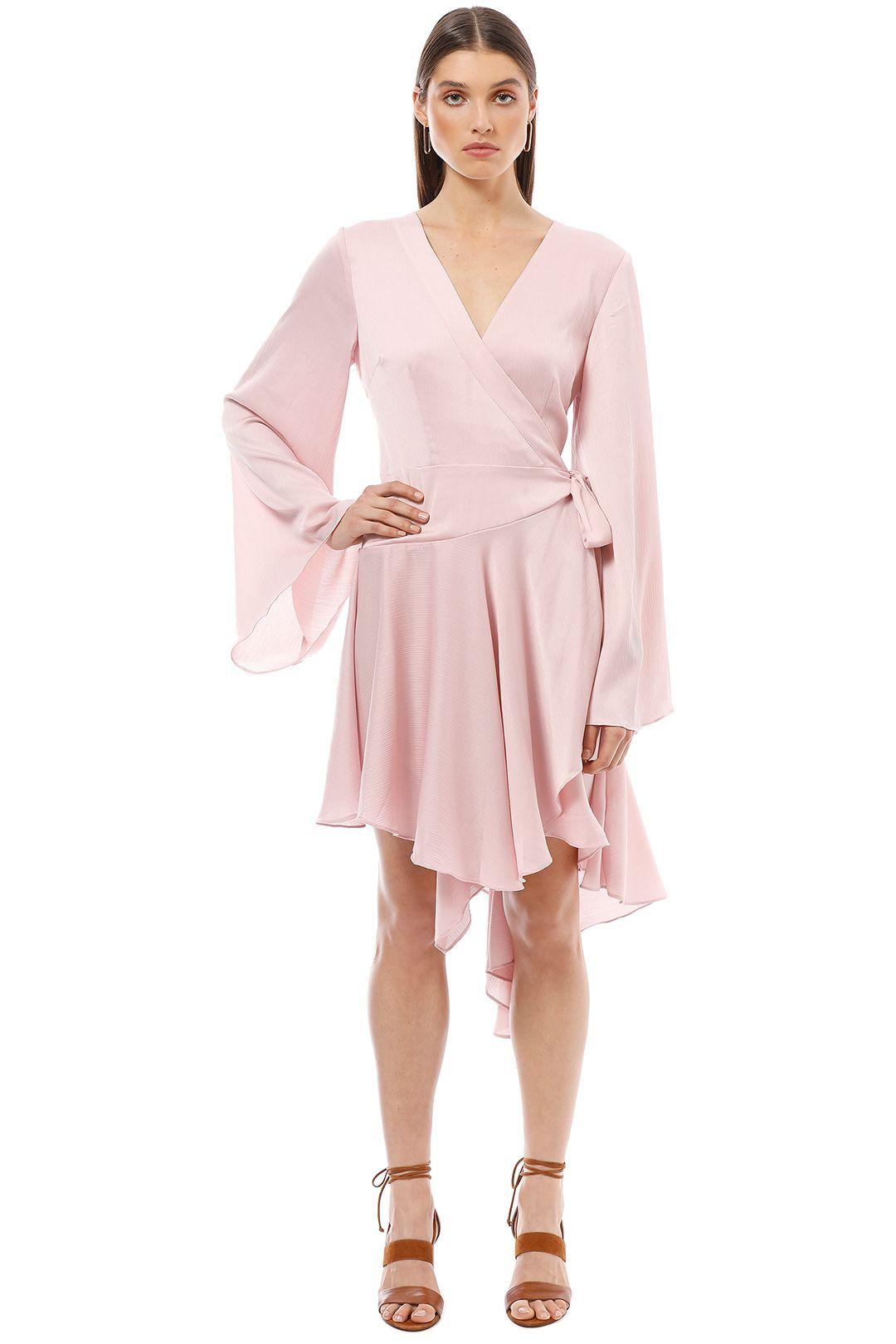 Keepsake the Label - Oceans Long Sleeve Wrap Dress - Pink - Front