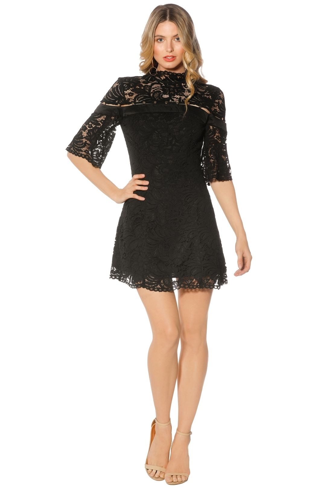 Keepsake The Label - Star Crossed Lace Mini - Black - Front
