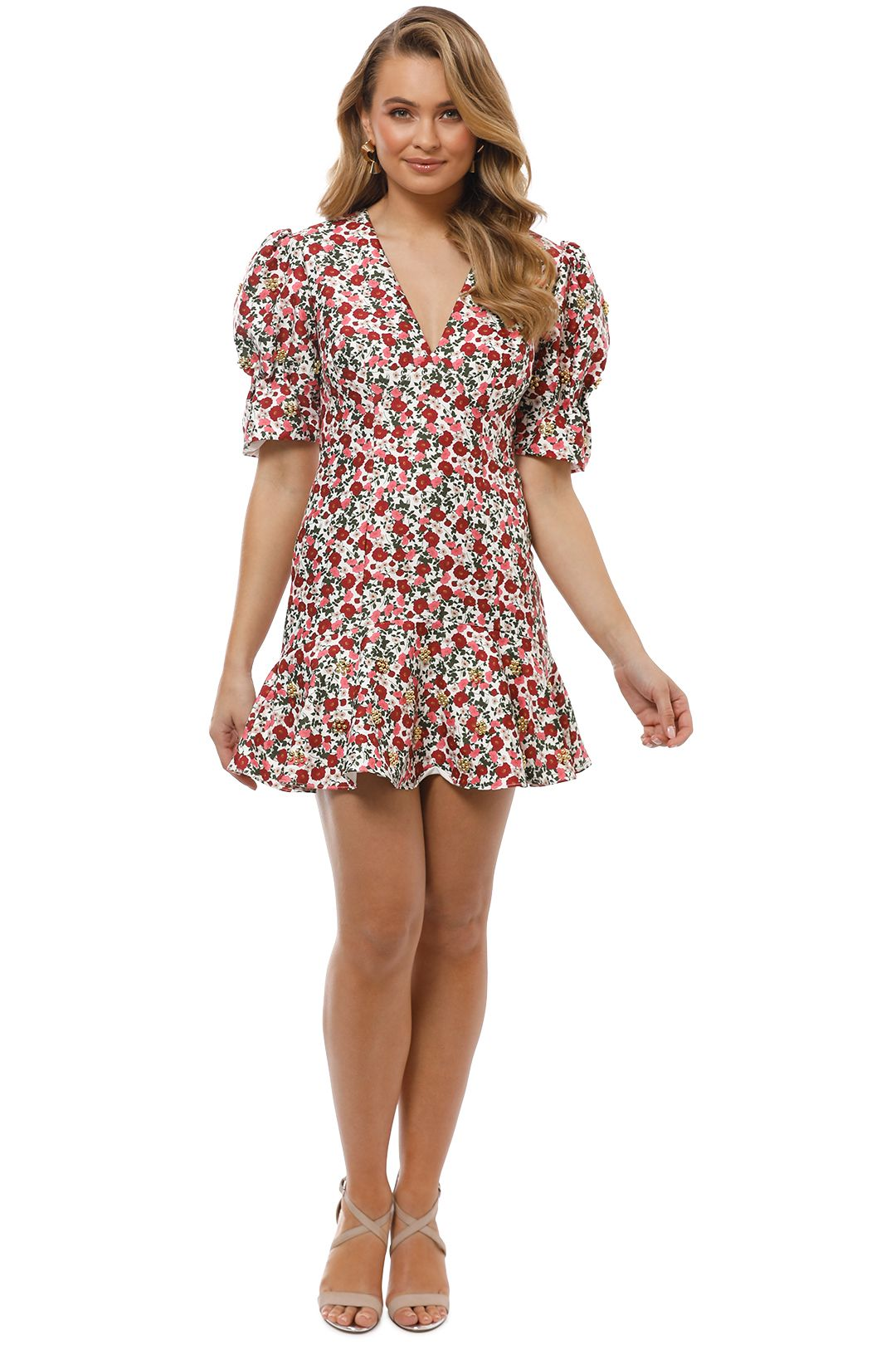 Keepsake the Label - Starlight Mini Dress - Ivory Floral - Front