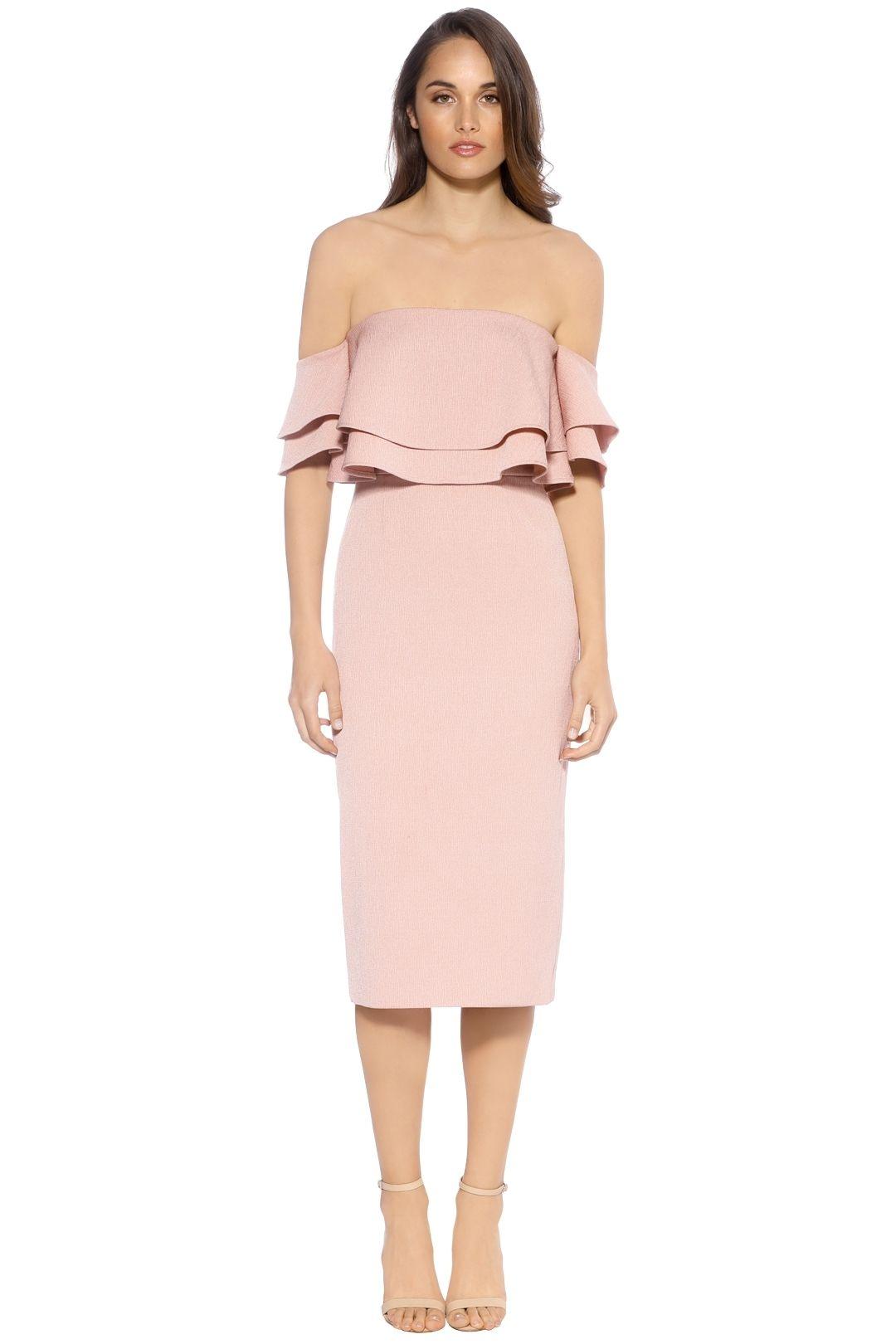Keepsake the Label  - Two Fold Dress - Pink - Front