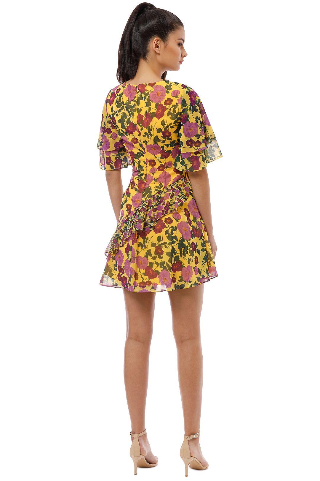 Keepsake the Label - Waves Mini Dress - Golden Floral - Back