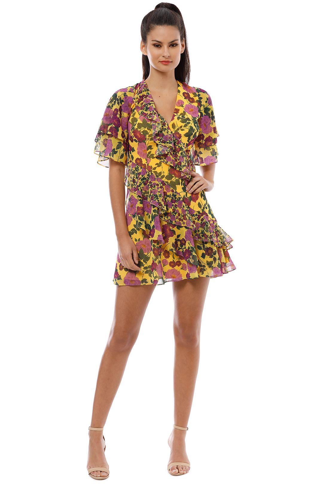 Keepsake the Label - Waves Mini Dress - Golden Floral - Front