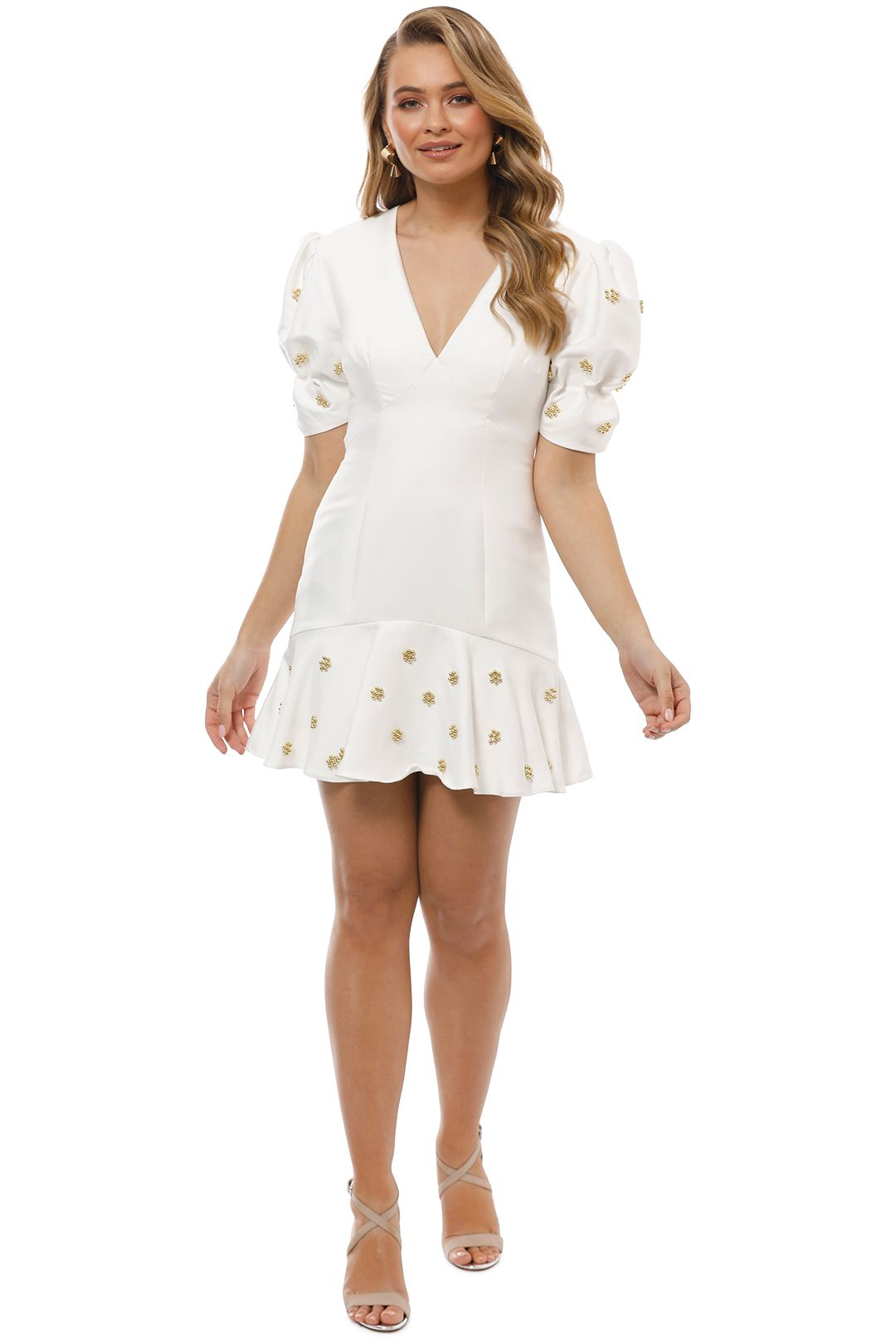 Keepsake the Label -Starlight Mini Dress - Ivory - Front
