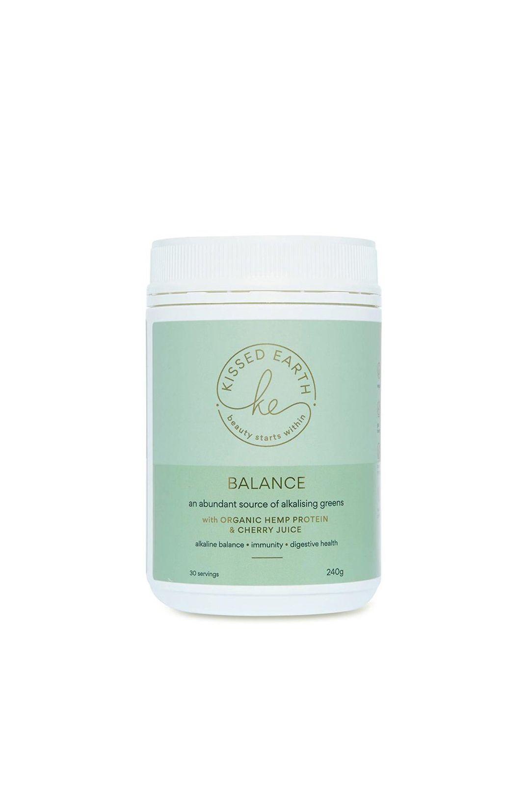 kissed-earth-balance-organic-hemp-protein-cherry-juice-alkalising-supplement-front