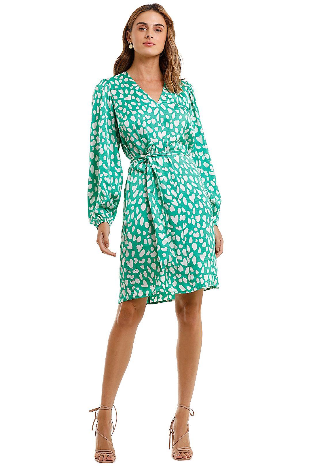 KITRI Kate Long Sleeve Dress Green