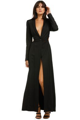 KITX-Cellular-Coat-Dress-Black-Front