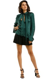 KITX-Essence-Spot-Blouse-Emerald-Front