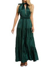 KITX-Essence-Spot-Dress-Emerald-Front