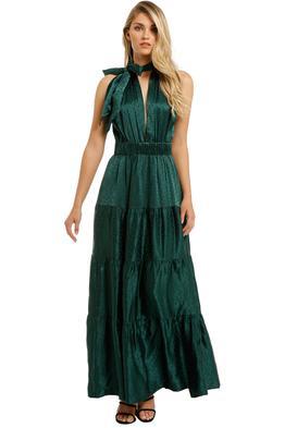 KITX-Essence-Spot-Dress-Emerald-Front
