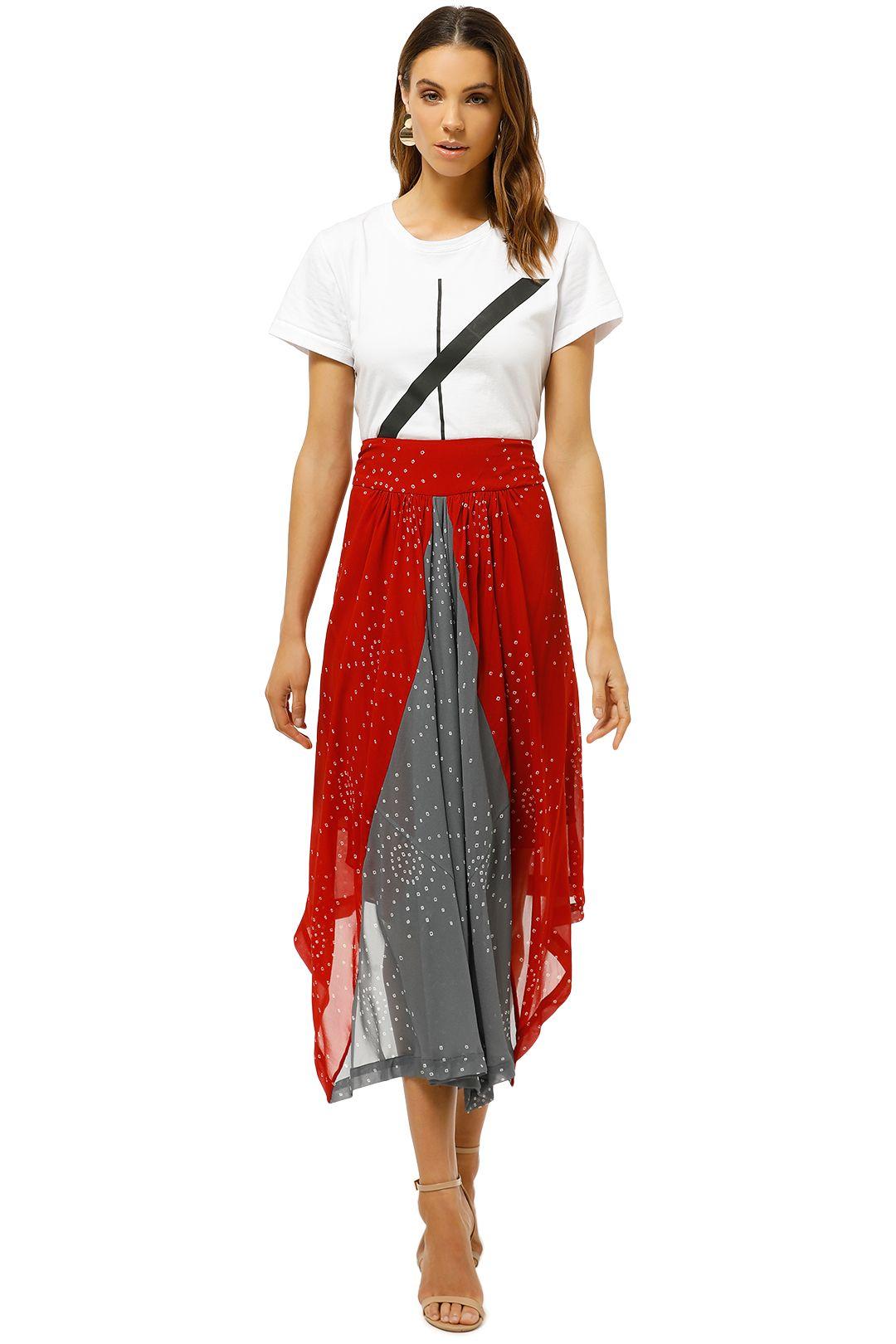 KITX-Galaxy-Waterfall-Skirt-Red-Grey-Front