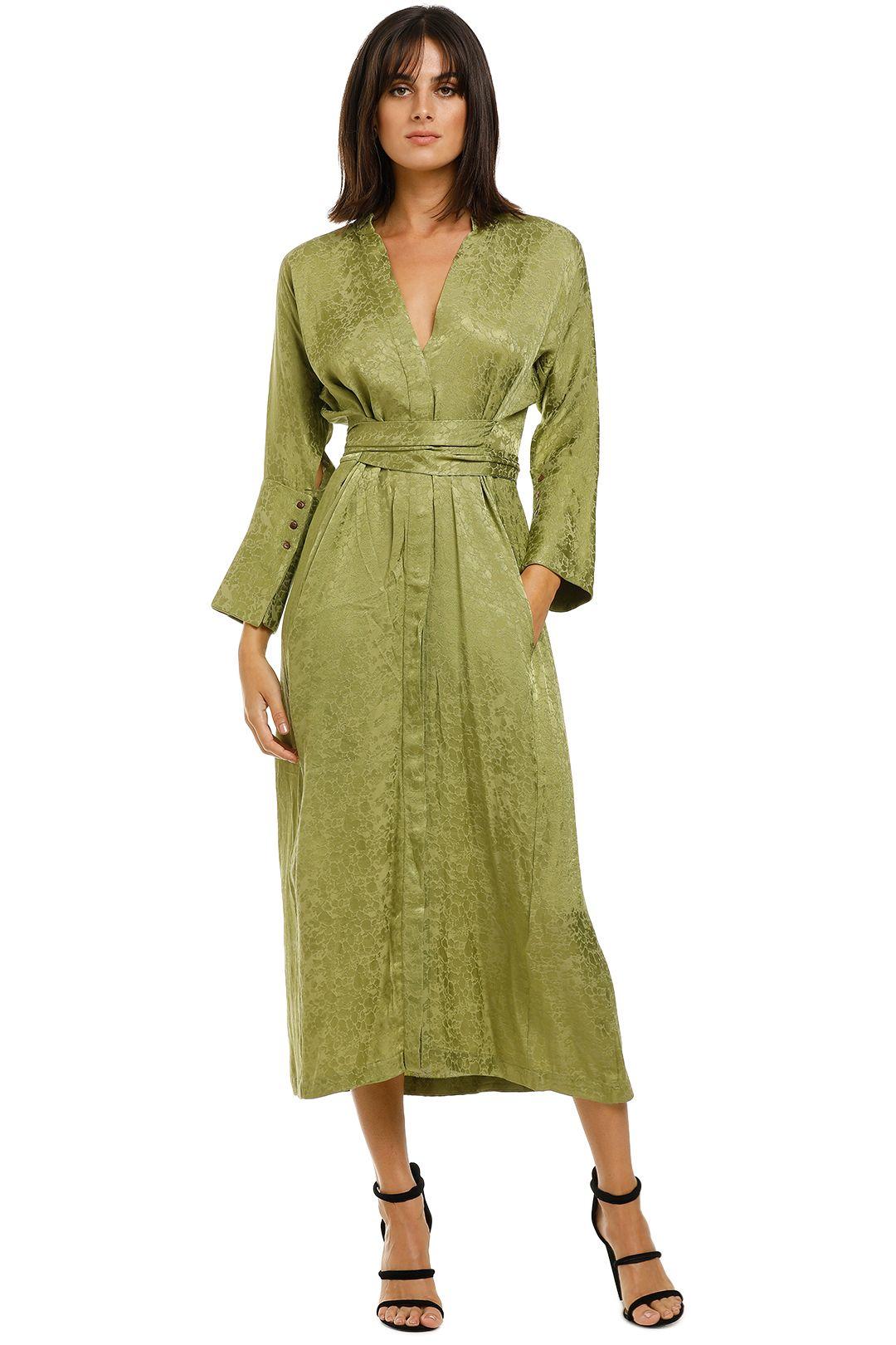 KITX-Slink-Shirt-Dress-Olive-Front