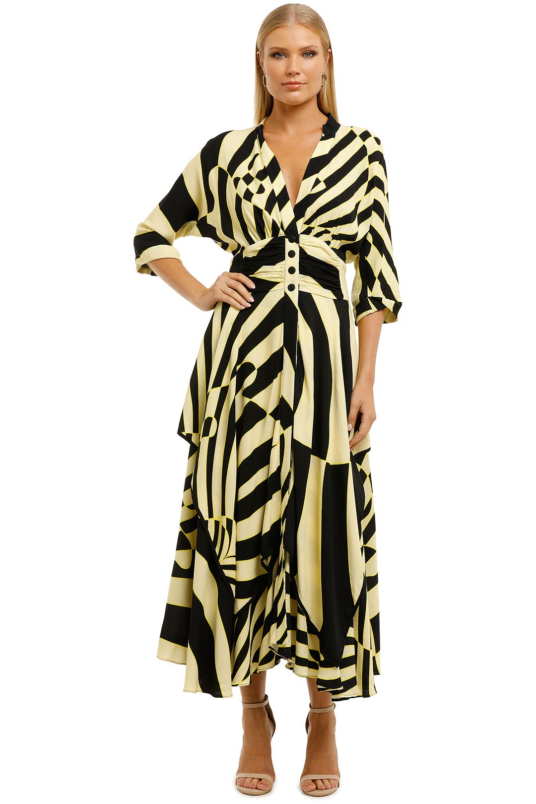KITX-Stripes-Handkerchief-Shirt Dress-Zebra Print-Front