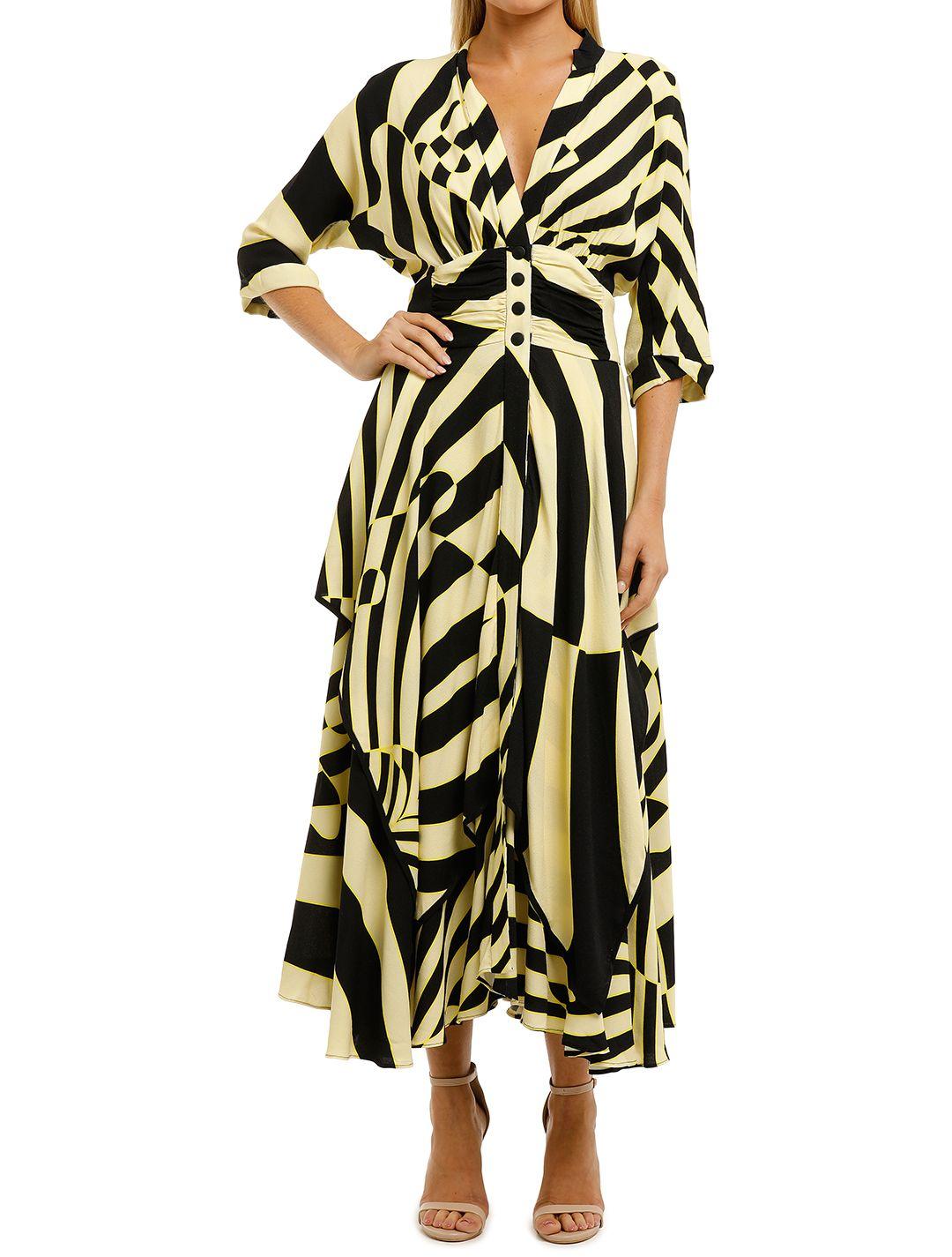 KITX-Stripes-Handkerchief-Shirt Dress-Zebra Print-Front