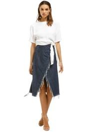 KITX - Conservation Denim Skirt - Blue - Front