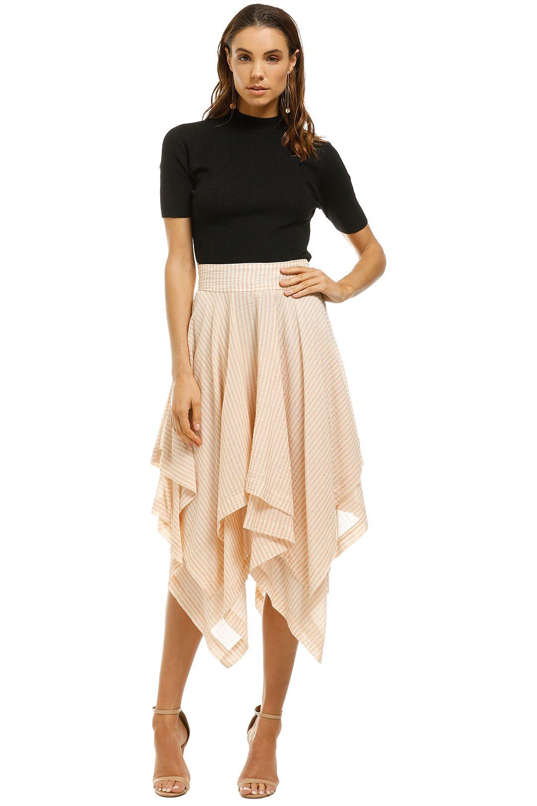 KITX - Noble Stripe Skirt - Beige - Front