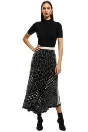 KITX - Sacred Geo Skirt - Black - Front