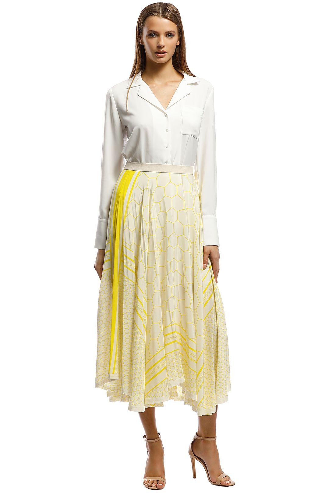 KITX - Sacred Geo Skirt - Yellow - Front