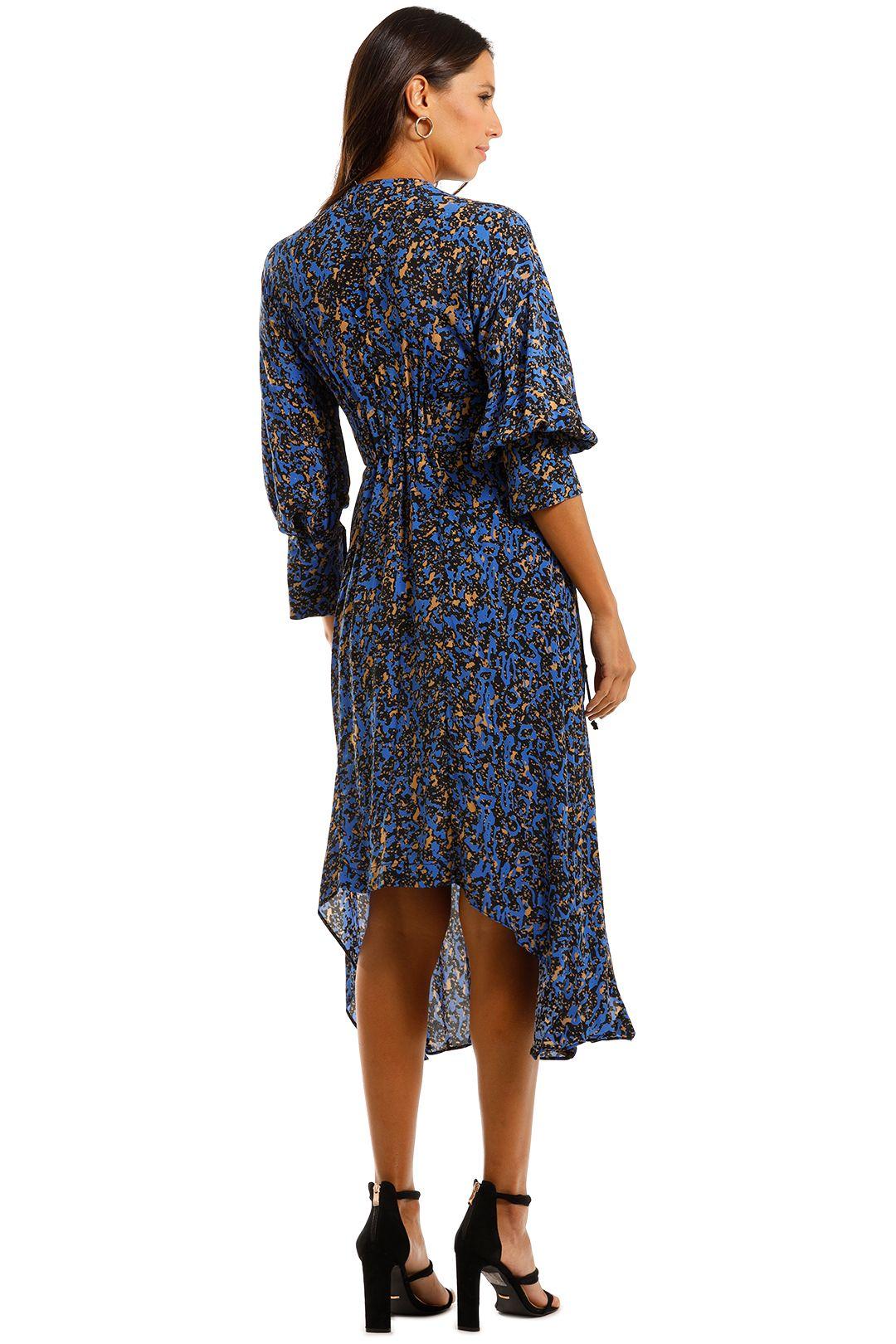 KITX Algae Future Dress Blue Midi Dress Asymmetric Skirt