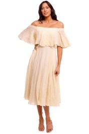 KITX Cotton White Tiered Dress full skirt