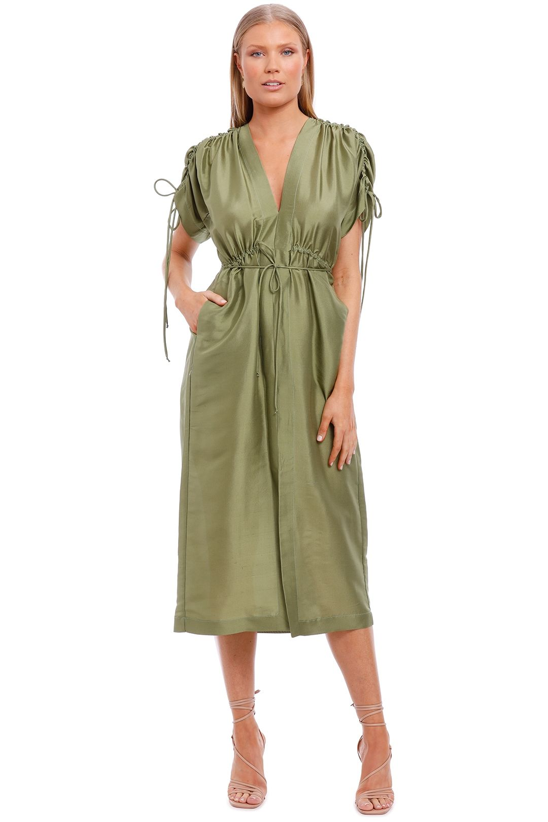 KITX Crush Dress Moss Green
