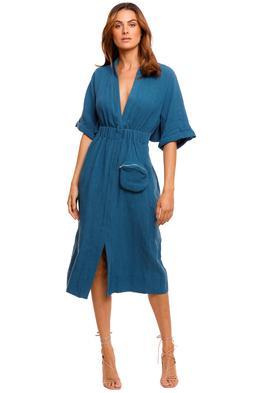 KITX Declaration Shirt Dress Ocean Blue